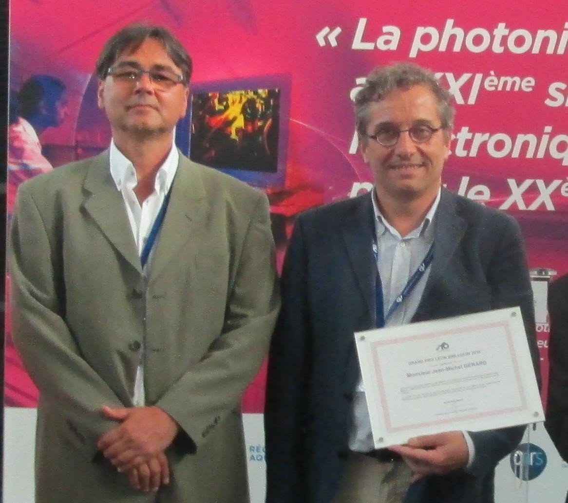 Remise du Prix Léon Brillouin par Benoît Boulanger président de la SFO