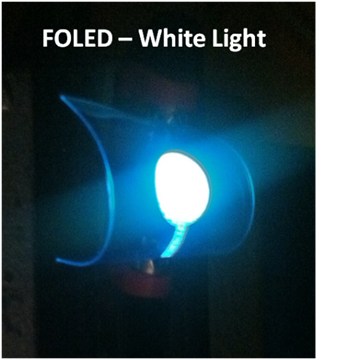Foldable white organic light emitting diode